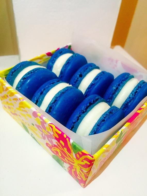 Blue velvet Macaron 2