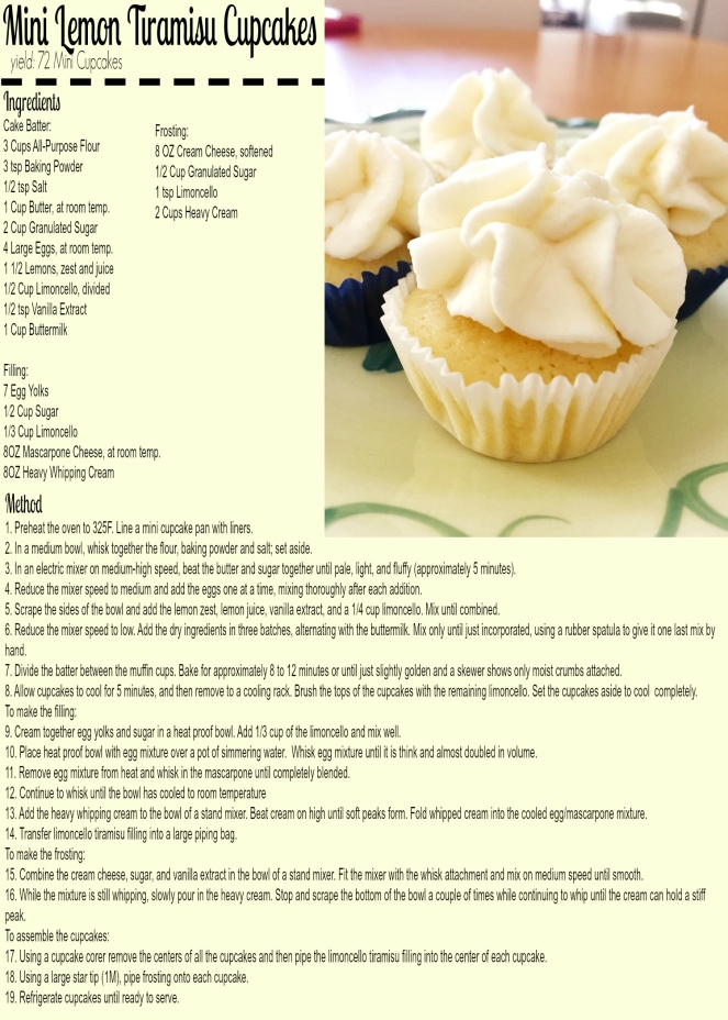 Limoncello Tiramisu Cupcake Recipe