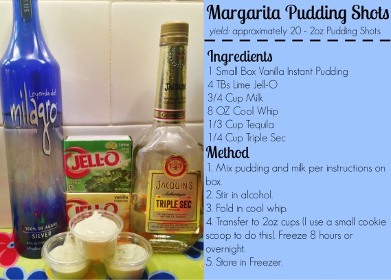 Margarita Pudding Shots