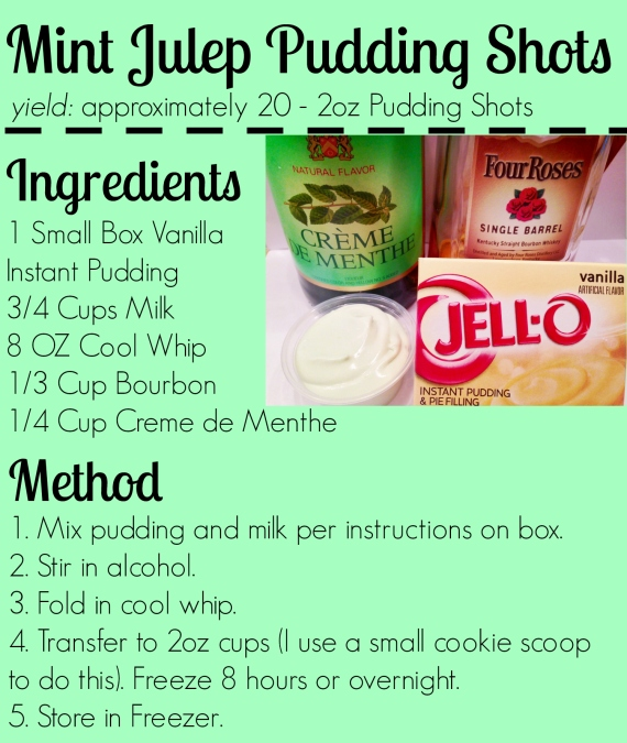 mint Julep pudding shots 2