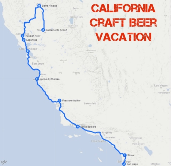 CaliforniaBreweryTourMap