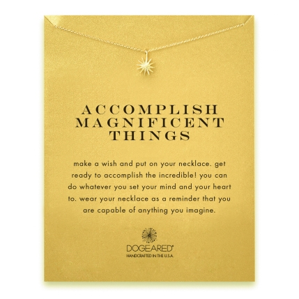 Accomplish Magnificent Things Dogeared