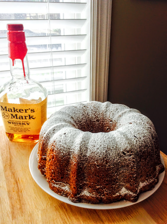 Bourbon Pecan Pound Cake & Maker's Mark