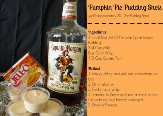 Pumpkin Pie Pudding Shot Recipe