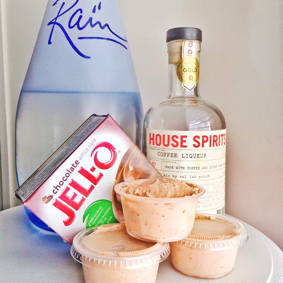 Coffee Cocktails: Mocha & Vanilla Latte Pudding Shots